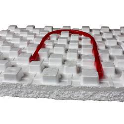 Мат для теплого пола с фиксаторами (30 мм)