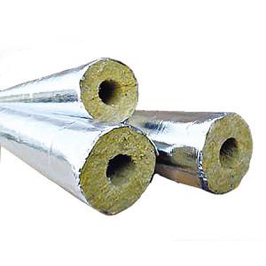 Изоляционный цилиндр для труб Ø 57 мм (ламинированный фольгой)